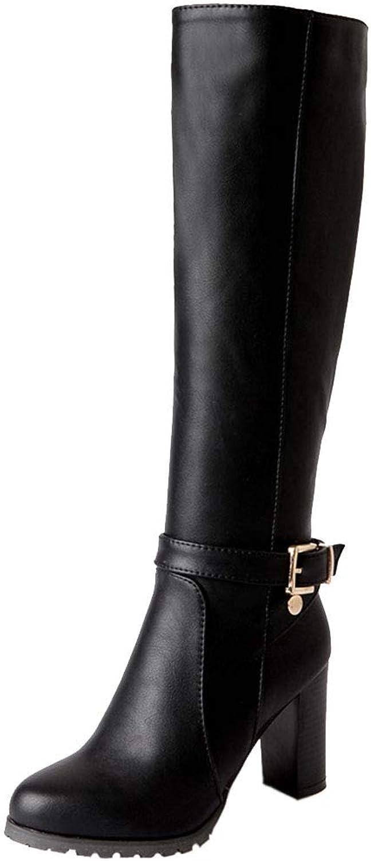 KemeKiss Women Knee High Boots Warm Equestrian Boots Heels
