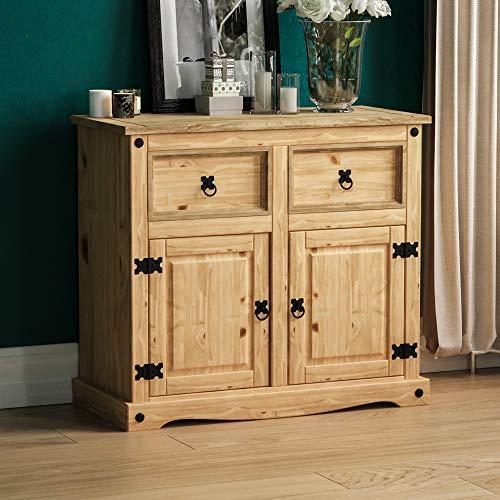 Amazon Brand - Movian Corona Sideboard, 2 Door 2 Drawer, Solid Pine Wood Natural