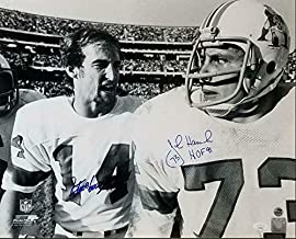 Steve Grogan & John Hannah HOF 91 Dual Signed Patriots 16x20 Photo COA - JSA Certified - Autographed NFL Photos