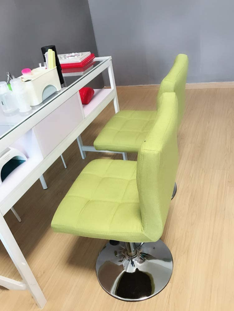 WCURT, Beauty Nail Haircut Cashier Front Desk Lift Chair Lift Tabouret réglable en Hauteur, Chaise pivotante à 360 ° Chaise Ergonomique, Gris-Green Green