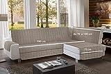 la biancheria di casa Simplicity Plus Angle Copri Salva Divano per divani ad Angolo (195 cm, Tortora)