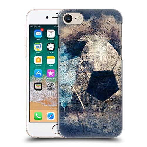 Head Case Designs Ufficiale Simone Gatterwe Grunge Calcio Vintage E Steampunk Cover Dura per Parte Posteriore Compatibile con Apple iPhone 7 / iPhone 8 / iPhone SE 2020