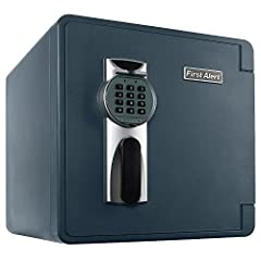 Digital safe protects valuables from fire, water, and theft 1.31 cubic feet capacity offers plenty of storage space for files, electronics, and more, Pry-resistant concealed hinges deter thieves and resist crowbar entry Fire-resistant design withstan...