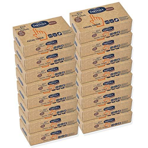 Pañuelos Papel Caja Reciclado Facial Tissues con Dispensador Eco 150 unidades - 25 Estuches