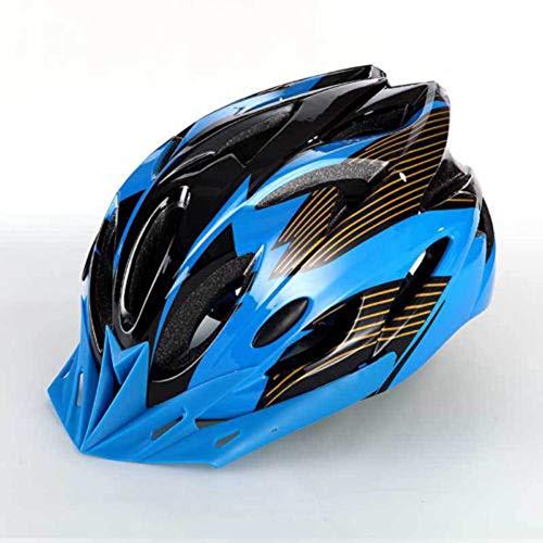 Huai1988 Casque de vélo pour adulte homme et femme, noir mat, casque de vélo réglable, casque de protection de sécurité pour adulte (bleu)