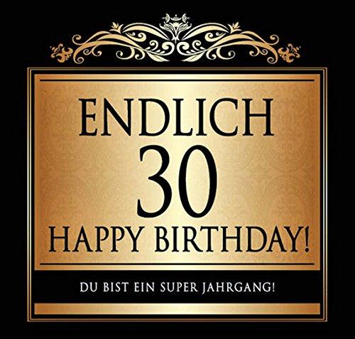 Udo Schmidt Aufkleber Flaschenetikett Etikett Endlich 30 Geburtstag gold elegant