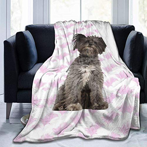 ujmki Manta para perro de raza mixta antipilling franela, abrigo de forro polar de alta calidad 50 60 pulgadas para adolescente