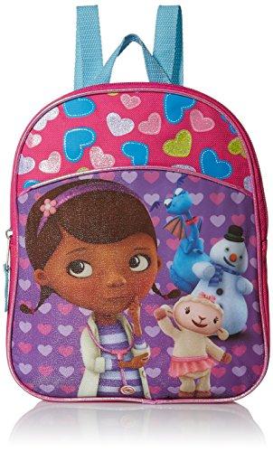 Disney Girls' Doc McStuffins Miniature Backpack, HOT PINK/PURPLE/BLUE, 11' X 9' X 2.75'