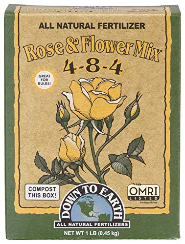 Down to Earth All Natural Rose & Flower Bulb Fertilizer Mix 4-8-4, 1...