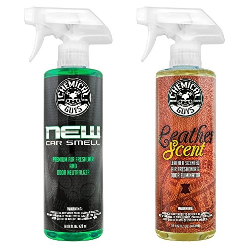 Chemical Guys AIR_300 New Car Scent and Leather Scent Combo Pack, 16 oz, 2 Items