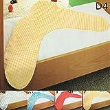 Baumwolle Kissenbezug Kissenhülle Seitenschläfer Stillkissen Bezug 40x190, Design - Motiv:Design 4