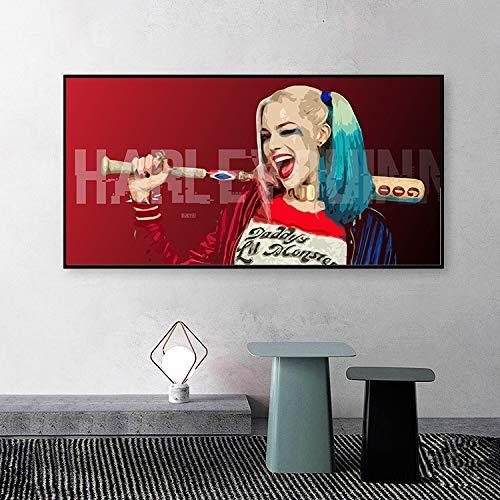 BailongXiao Filmplakate von Clown-Heldinnen und Wandbilder mit Druckkunst schmücken das Wohnzimmer,Rahmenlose MalereiCJX1985-40X70cm