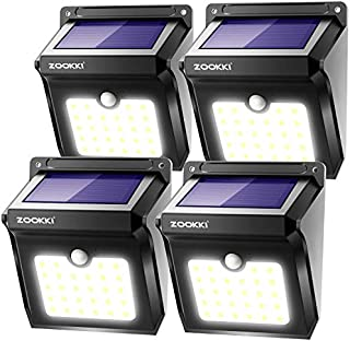 ZOOKKI Solar Lights Outdoor, 28 LED Wireless Motion...