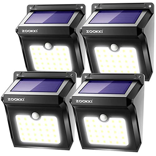 ZOOKKI Solar Lights Outdoor, 28 LED Wireless...