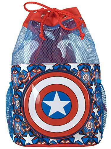 Marvel Bolsa de Natación para Niños Capitán América