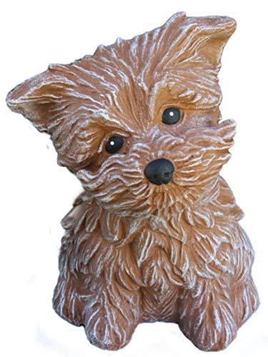 Steinfiguren Spicker Steinfigur Hund 125/3, Gartenfigur Steinguss Tierfigur Terrakotta Patina