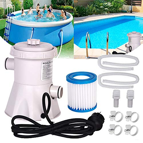 Swimming Pool Filter Pump, Electric Water Pump for Above Ground...