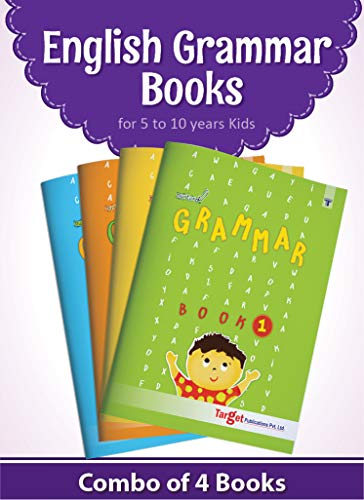Nurture English Grammar and Composition Books for Kids | 5 to 10 Year Old | Practice Exercises with Colourful Pictures for Primary Children | Book 1 to 4 - Set of 4 Books