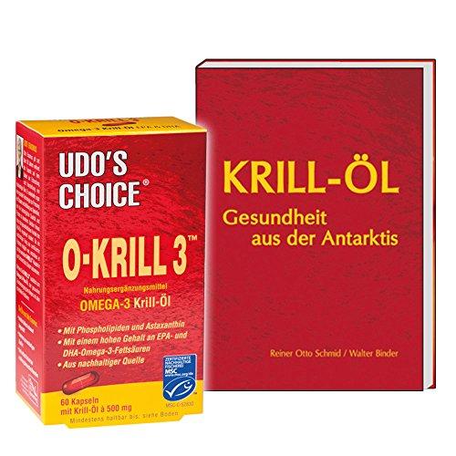 Krillöl von Udo Erasmus, 60 Kapseln + Buch: Krill-Öl, 120 Seiten (Geschenkset - Sie sparen 10 Euro gegenüber Einzelkauf)