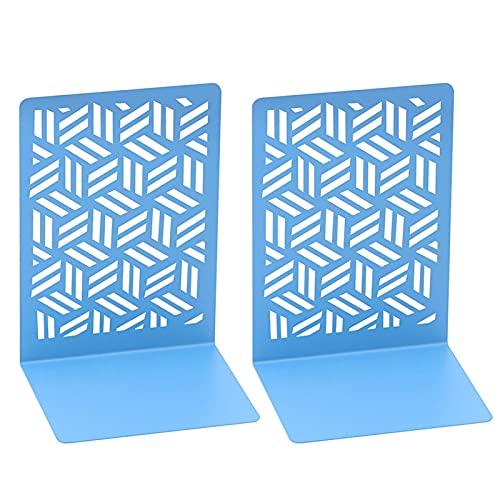 Sujetalibros Soporte Para Libros Porta Libros De Metal, Antideslizante, Resistente A Los Arañazos, Sujetalibros Innovador, Vista De Cuadrícula, Diseño De Arte Geométrico, Ideal Para Organizar Libros