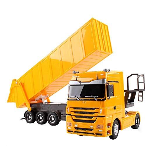 RC Auto kaufen LKW Bild: Etanby 1:32 RC Ferngesteuertes Bau LKW Fahrzeug Container Transporter Modell, 2,4 GHz 6-Kanal Ferngesteuertes Baustellenfahrzeug, Baustellenfahrzeug Mit Fernbedienung,Geeignet für Kinder über 6 Jahre*