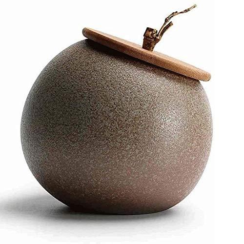 Chihen Frascos Hermeticos Té de la cerámica Caddies Alimentación Tarros del Almacenamiento de té, Comida, café, Sal, azúcar (5) 1229 (Color : 5)