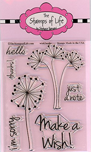 Make A Wish Stamps for Card-Making and Scrapbooking Supplies by The Stamps of Life - Wish2Make Party Sentiments