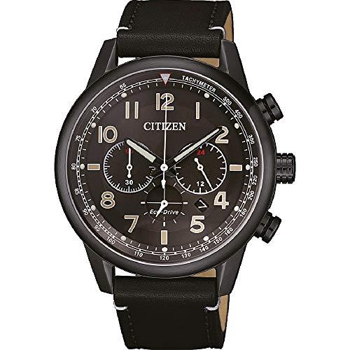 CITIZEN Herren Analog Eco-Drive Uhr mit Leder Armband CA4425-28E