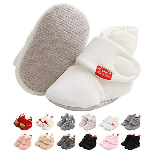 Botas de Niño, Zapatos para bebés Lindo Invierno Calcetín Invierno Soft Sole Crib Raya de...