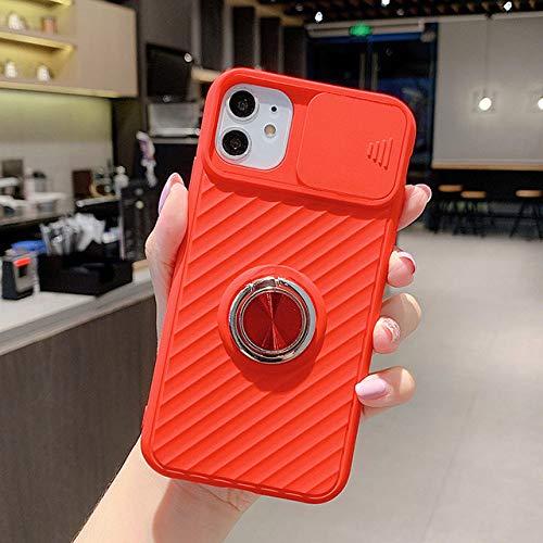 FYMIJJ Funda Protectora para cámara Deslizante para iPhone 12 SE 2020 11 11Pro MAX XR XS MAX X 8 7 6 6S Plus 11Pro Funda Blanda con Soporte para Anillo a Prueba de Golpes, T8, para iPhone se 2020