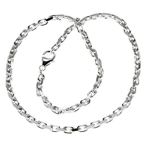 NKlaus 70cm Ankerkette Halskette Massiv 925 Sterlingsilber Silber Diamantiert 3,80mm 42,9g 5894