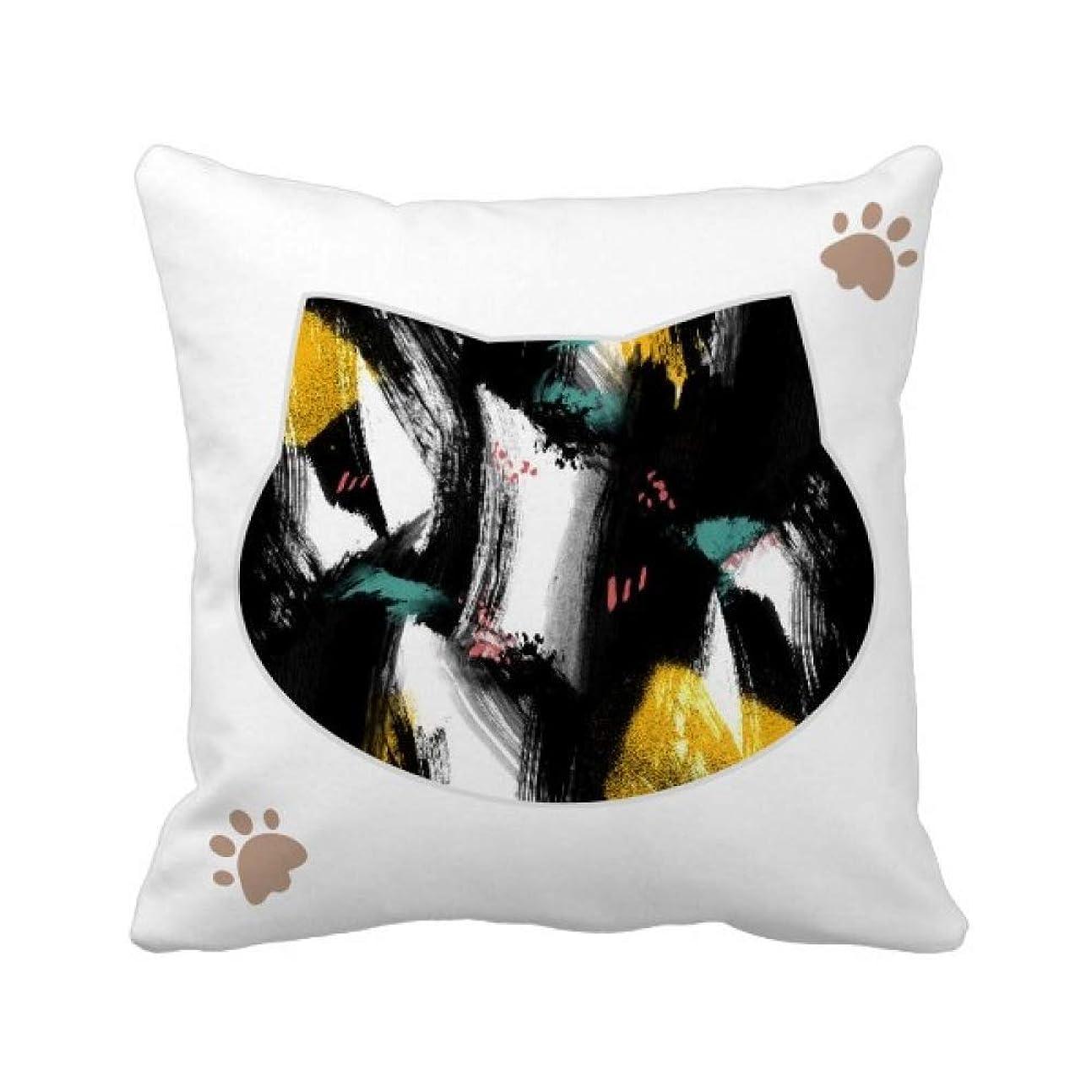 ファーザーファージュバング論争グラフィティアートを穀物のイラストパターン 枕カバーを放り投げる猫広場 50cm x 50cm