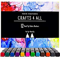 Crafts 4 All 12 pack Dual Tip Fabric Pens