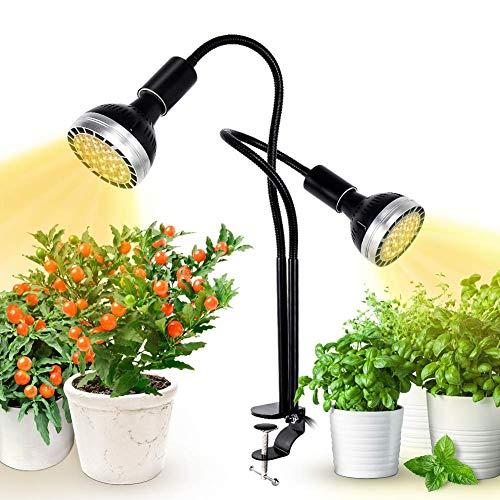 300W LED Grow Light, Kolem Plant Light for Indoor Plants, Dimmable, 2 Grow Light Bulbs, Sunlight Full Spectrum Plant Light for Seedings, Hydroponic, Succulents, Flower
