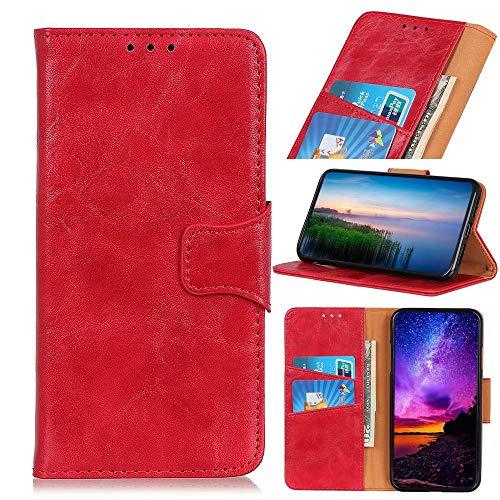 Schutzhülle für Huawei P Smart 2020, Premium-Leder, stoßfest, Brieftaschenformat, Magnetverschluss, Flip-Folio-Ständer, vollständiger Schutz, kompatibel mit Huawei P Smart 2020, Rot