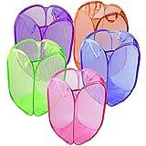 ZM-Shoes Cesto de la Ropa Plegable 32 * 32 * 44 cm (Los Colores Son al Azar a Partir de 5 Piezas enviadas) Compatible para el Organizador del hogar del vivero se espesó,A,32 * 32 * 44 cm