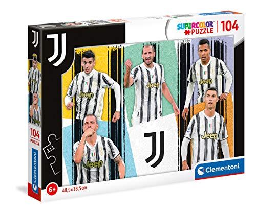 Clementoni- Supercolor Puzzle-Juventus-104 Pezzi-Made in Italy, Puzzle Bambini 6 Anni+, Multicolore, 27541