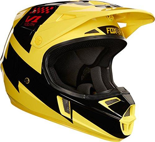 Fox Junior V-1 Mastar - Casco integral (talla YM), color amarillo