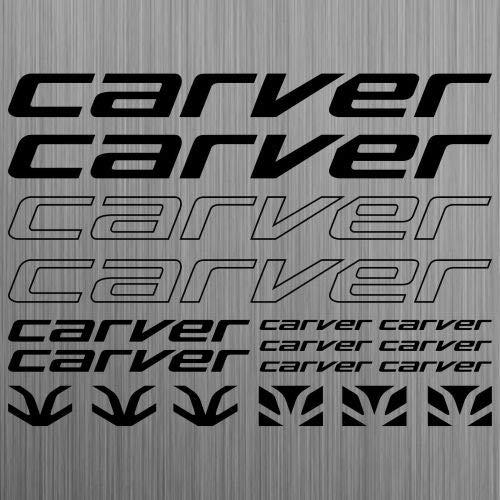 myrockshirt Carver Aufkleber Sticker Fahrrad Bike MTB BMX Road 18 Stücke s ca.30cm Aufkleber Autoaufkleber Sticker Decal ohne Hintergrund UV&Waschanlagenfest