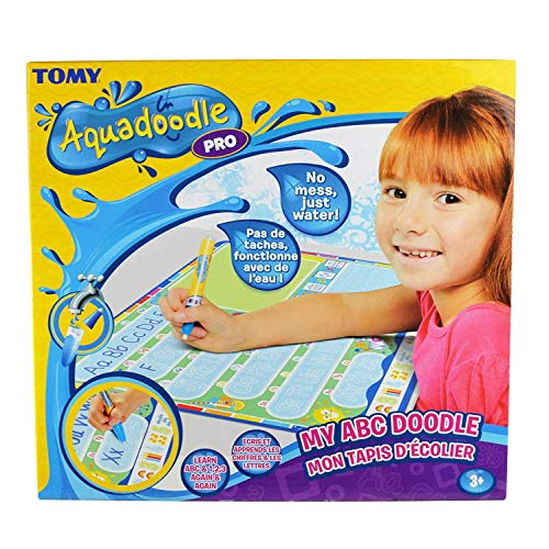 Aquadoodle My ABC Doodle Large Water Doodle Mat, Official TOMY No Mess Colouring & Drawing Game, Suitable for Toddlers and Children Aged 3, 4 & 5 +