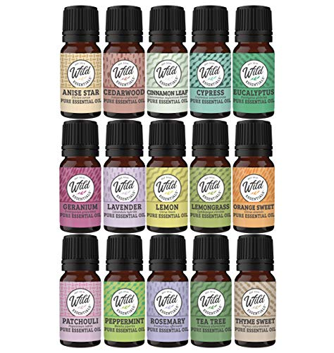 Kit de regalo de 14unidades 100% Pure aceites esenciales–Ideal para aromaterapia