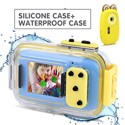 AMKOV Waterproof Kids Camera, Digital Camera for Kids 8.0MP 2.0 Inch HD Waterproof Camera,IPS Screen Kids Video Camera, Mini Kids Camcorder(1920x1080P) Kid Camera Gift for Boys/Girls