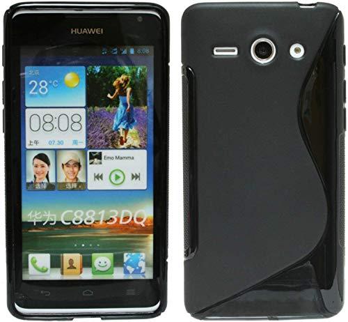 S Line TPU–Carcasa para Huawei Ascend Y530Funda de silicona en negro @ Energmix