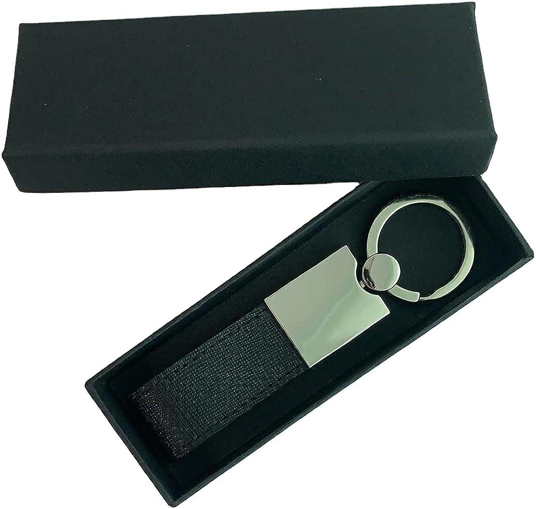 Genuine Leather Keychain, Mens Luxury Leather Keyring Valet Car Keychain Key Organizer for Men