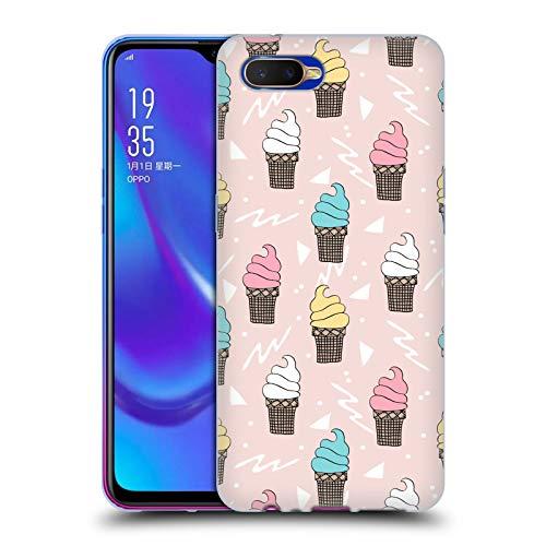 Officiële Andrea Lauren Design IJs Voedsel Patroon Soft Gel Case Compatibel voor Oppo K1 (2018)