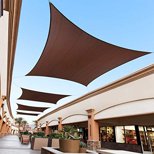 Royal Shade 8' x 10' Brown Rectangle Custom Size Order to Make RTAPR1013 Sun Shade Sail Canopy Mesh UV Block Triangle - Commercial Standard Heavy Duty - 200GSM - 5 Years Warranty