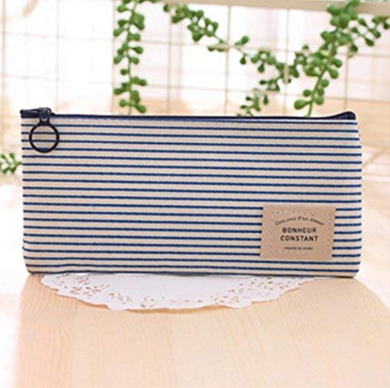 HUAIX Home Bürobedarf Federmäppchen Simple Style Stripe Pen Federmäppchen Federmäppchen Federtasche (Blau) B07MHL53QR   Spielen Sie das Beste