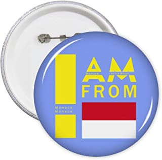 Lot de 5 badges avec inscription « I Am from Monaco »