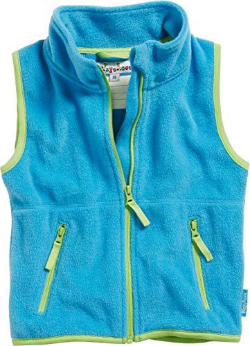 Playshoes Kinder Fleeceweste farbig abgesetzt Weste, Blau (aquablau 23), 92
