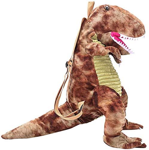 Home Style Collection - Zaino in peluche con animali di dinosauro, 40 cm, ideale per bambini e bambine, marrone (Marrone) - ZYW-QYDRZE